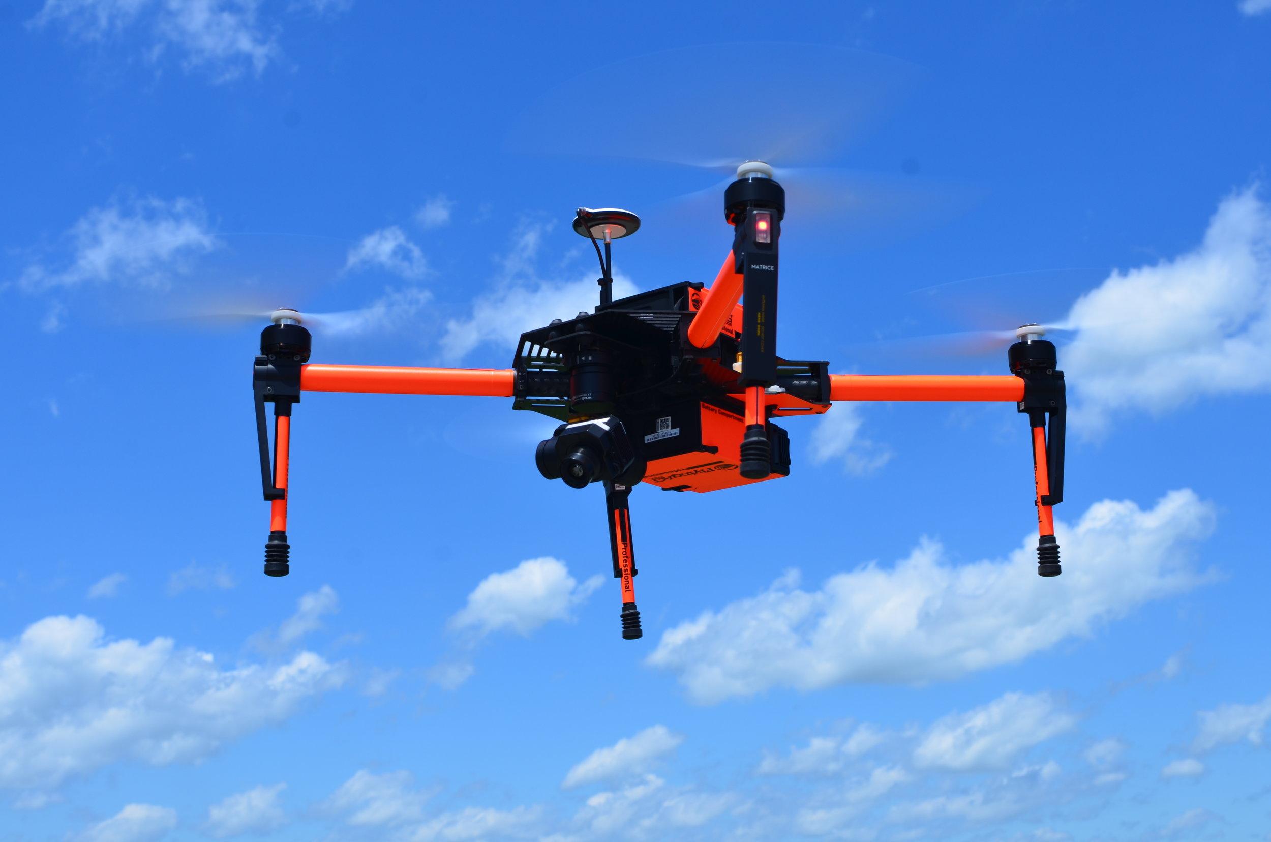 FlyingAg's Matrice w/  NEW FLIR Thermal camera .