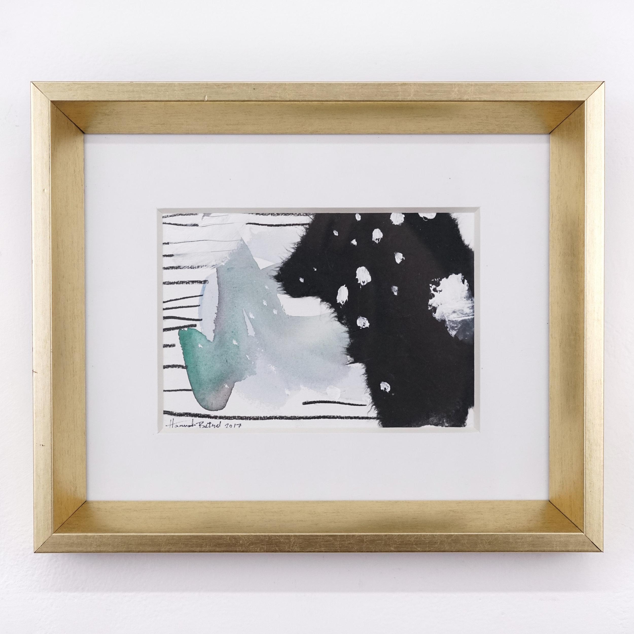 Hannah Betzel, Consisitent Consistent Consistent, 5x7 mixed media on paper, $138 framed.jpg