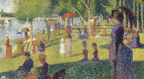 "Study for ""A Sunday on La Grande Jatte"" by Georges Seurat (French, Paris 1859–1891 Paris)"
