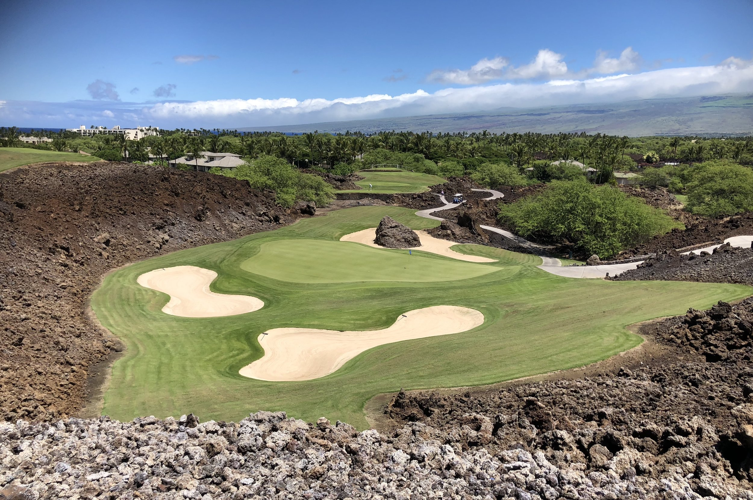 Iconic hole at Mauna Lani
