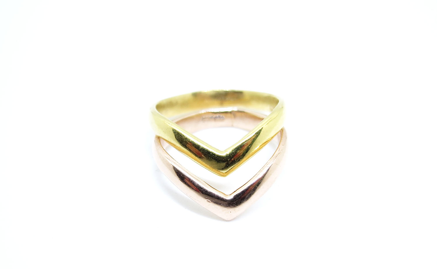 Chevron Ring Rose Gold