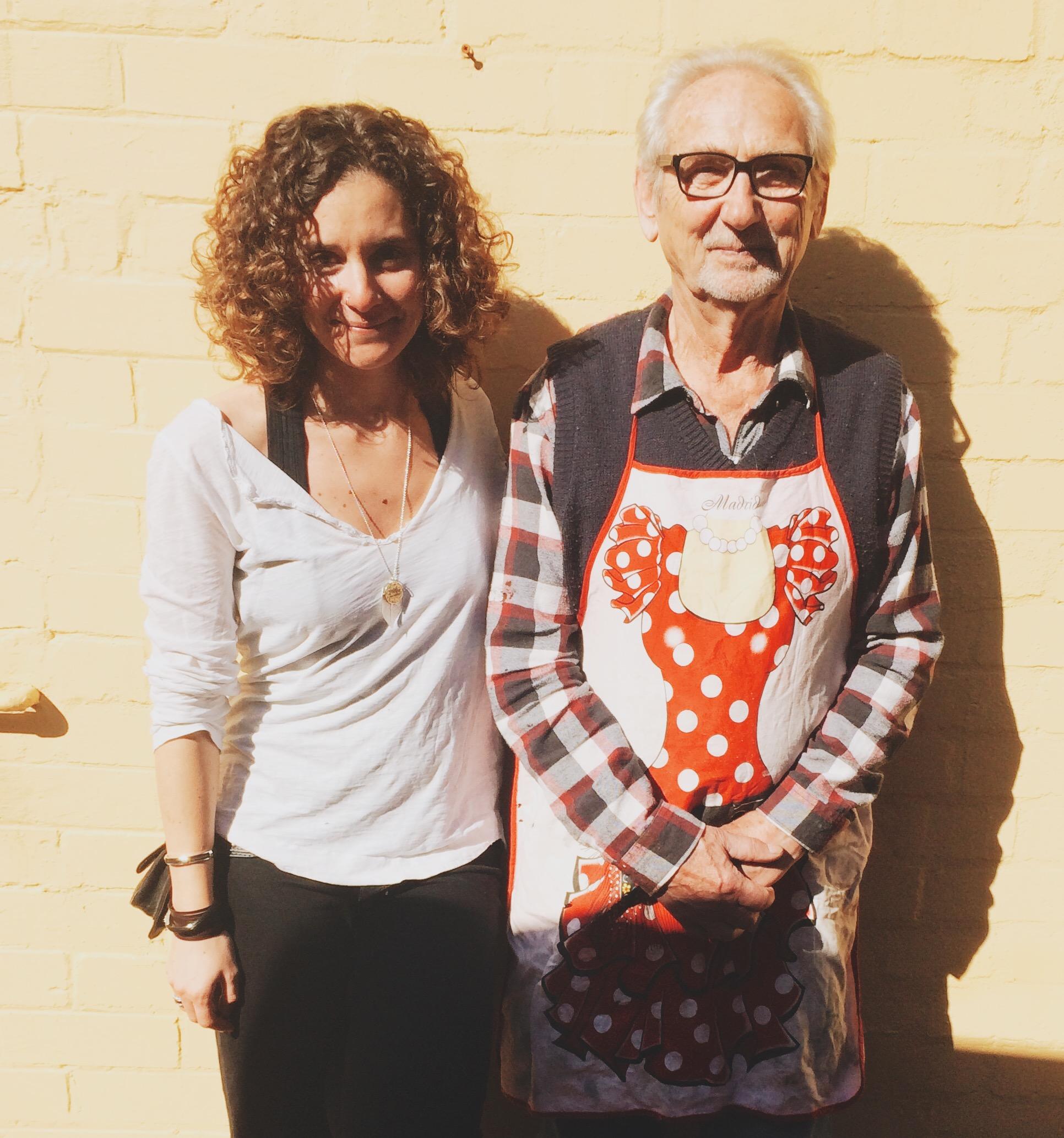 John And Teresa at John's studio in Coogee, Sydney