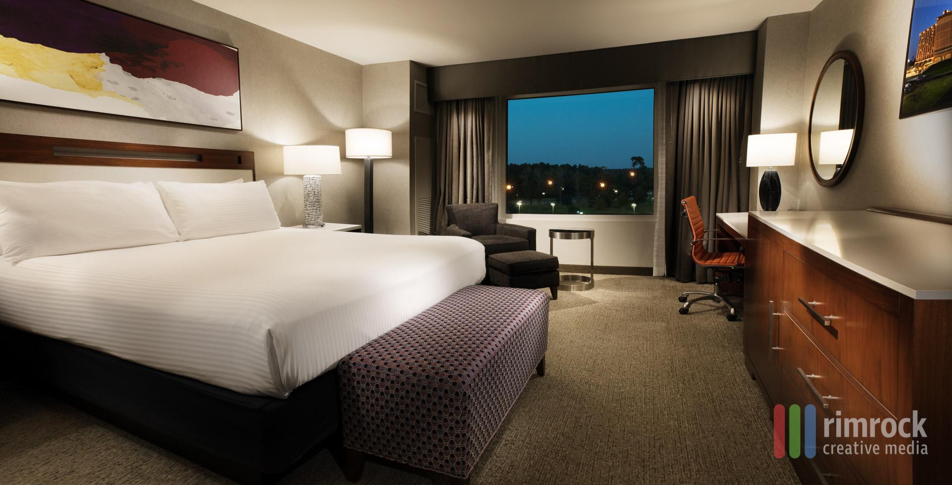 Hotel Room Resort Casino Photography Rimrock Creative Media Delta Downs_King Room Evening Crop A.jpg