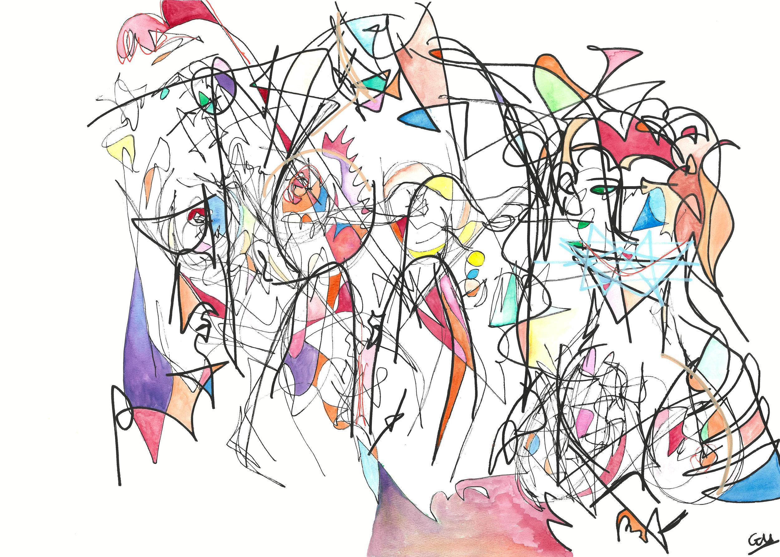 'M' (Watercolour, 20inx30in, 2018)