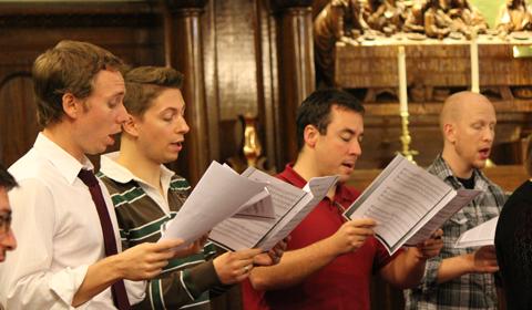 men-singing