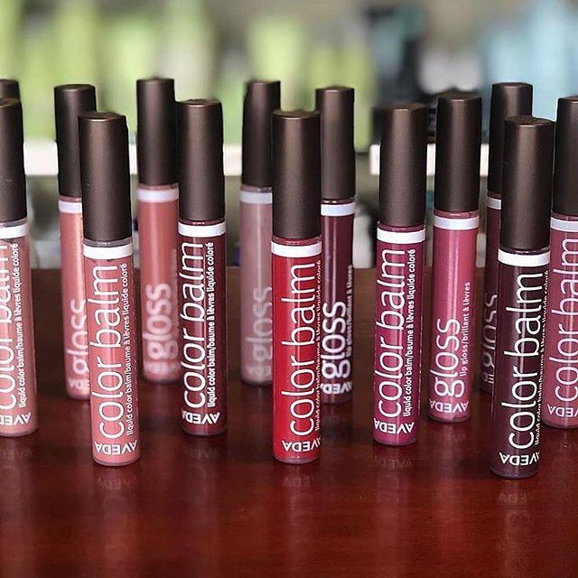 New season, new lip colors💋💋We're here for Aveda's new Color Balms, a93% naturally derived vegan liquid lipstick with a rich cream finish.📸@salondulay #TrueAvedasalon  . . . #falllips #avedalipstick #avedamakeup #veganmakeup #crueltyfreemakeup #avedalasvegas #avedavegas #avedainstitutevegas #avedainstiutelasvegas #behindthechair #Modernsalon #americansalon #vegasbeauty #vegasmakeup #vegan #fall #fallmakeup #fallfashion