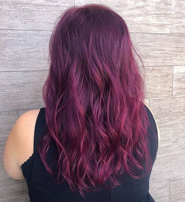 Summoning all the deep reds for fall🥀🍁@samiii_b_ #TrueAvedaSalon . . . . .  #aveda #avedacolor #fallhair #fallhaircolor #color #fall #fullspectrumvibrants #raspberry #fsvibrants #burgundyhair #vibrant #hair #hairstylist #hairstyles #hospii #red #violet #hairdresser #haircut #obsessed #longhair #hottoolspro #avedared #redhair #avedalasvegas #avedainstitutelasvegas #avedainstitutevegas