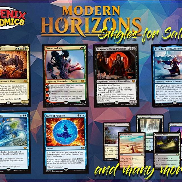 Modern horizon is out tomorrow and we are getting it all ready for you guys. Come get your singles before your buddy so you can crash em 👊👊 #mtg #yyc