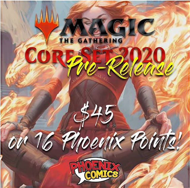 We are finally hosting our own pre-release! July 5th 5:30pm. Entry fee is only $45 or 16 Phoenix Points! (16 pts are equivalent to $32, INSANE VALUE). Any questions? Check our FB event or ask us any questions you may have about this event. #mtg #yyc