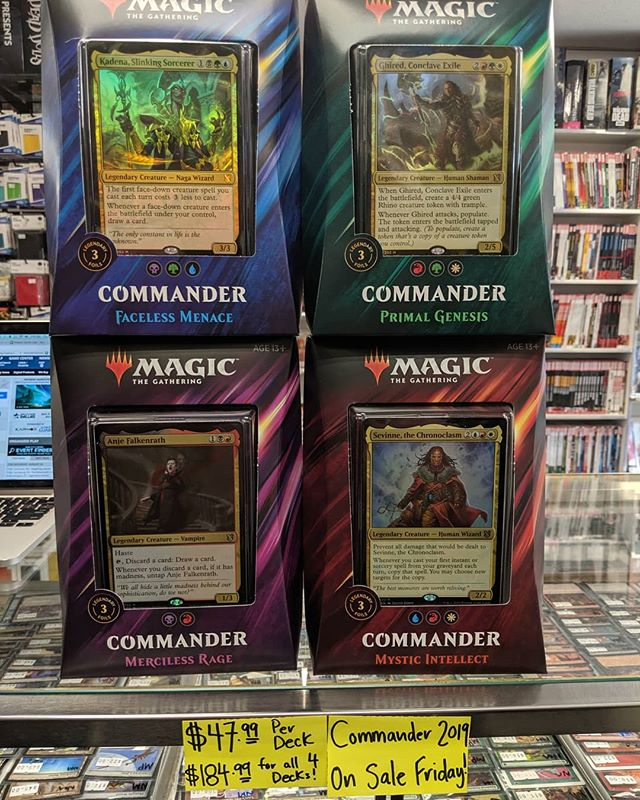 Commander 2019 decks are out tomorrow!