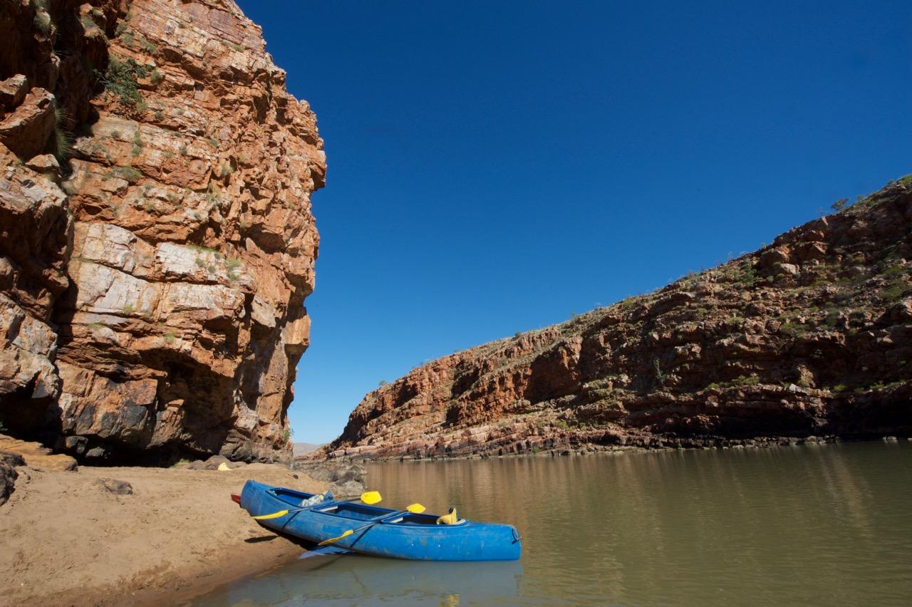 Canoe at Diamond Gorge