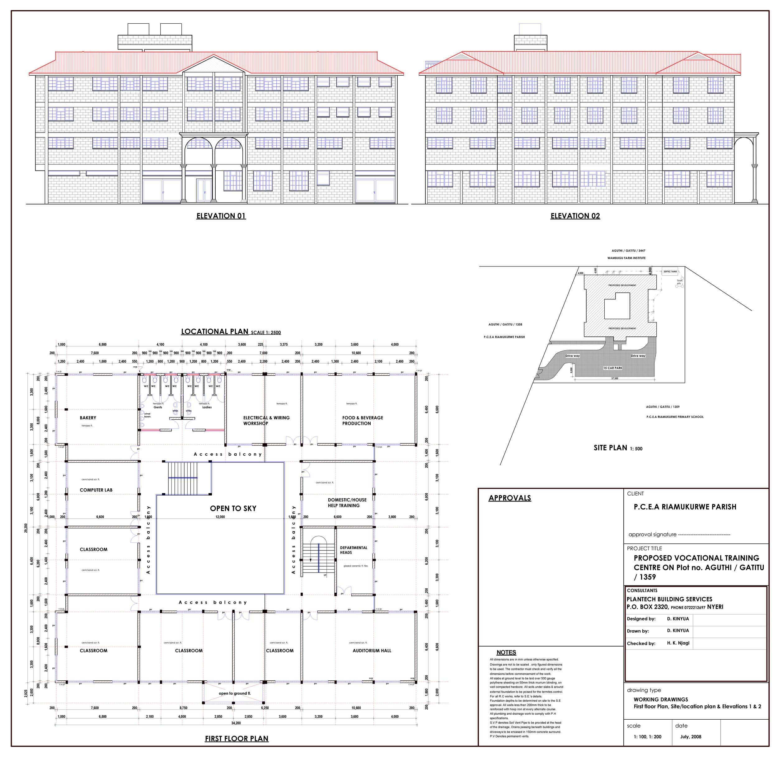 Vocational Training Center Layout 2
