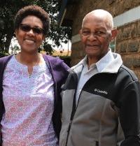 Learn for Life Kenya Vice President, Anne Muindi-Shememnski with father, Rev. Muindi