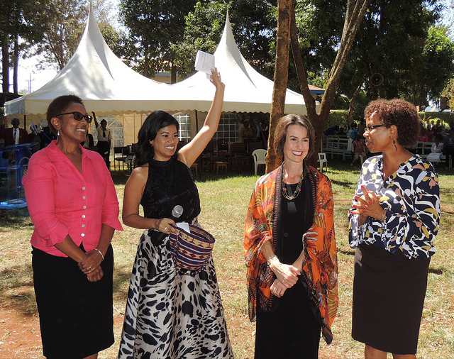 Co-Founders Anne Muindi-Shemenski and Bonnie Lee and Board Chair Catherine Gacheru self-funded their trip to Kenya to hand deliver a donation from Learn for Life Kenya at the recent Tumaini Vocational Training Center Harambee (fundraiser) in October.