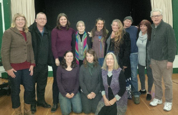 October 2014-October 2016   Left to Right, Back Row:   Carol Mollet,  Lecturer ; Tim Calderbank,  Treasurer ; Callie Uleners,  Secretary ; Maureen R. Michelson,  Grange Master (President) ; Sonia Arion,  Steward ; Donna Hardman,  Chaplain ; Tina Crawford,  Asst. Steward ; Donna Bierer,  Pomona ; Gary Spoerle,  Gatekeeper   Left to Right, Front Row:  Katie Coppoletta,  Overseer (Vice President) ; Caroline Oakley,  Ceres ; Pam Arion,  Lady Asst. Steward