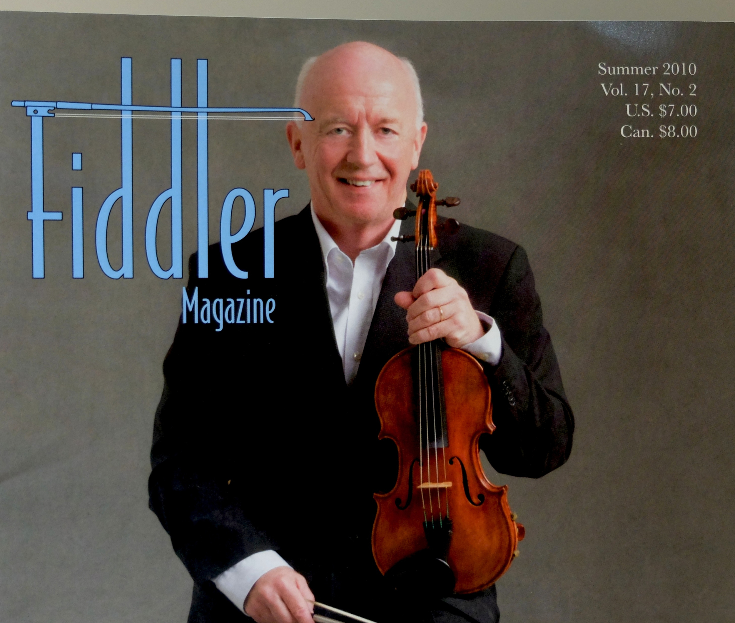 Seamus on cover of Fiddler Magazine, USA 2010     www.fiddle.com