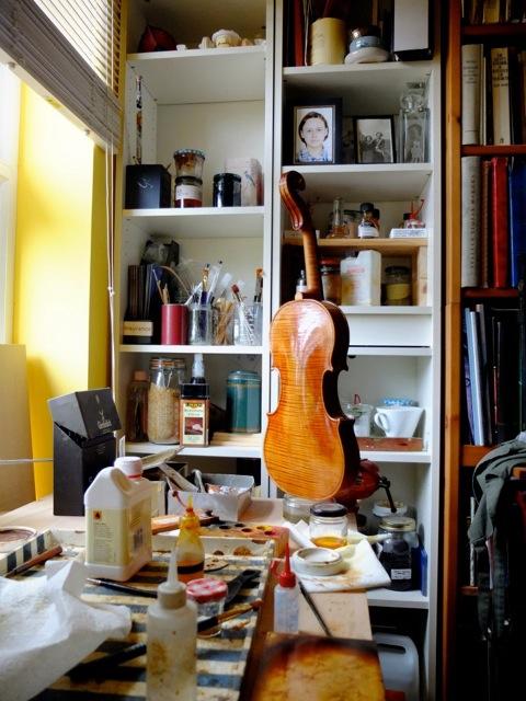 In the violin workshop of Neil Kristof Ertz, Edinburgh. Photo courtesy of Neil Kristof Ertz