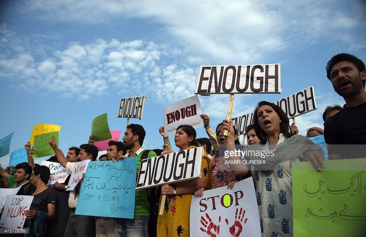 Photo Credit:     http://media.gettyimages.com/photos/pakistani-civil-society-activists-shout-slogans-during-a-protest-the-picture-id473128262