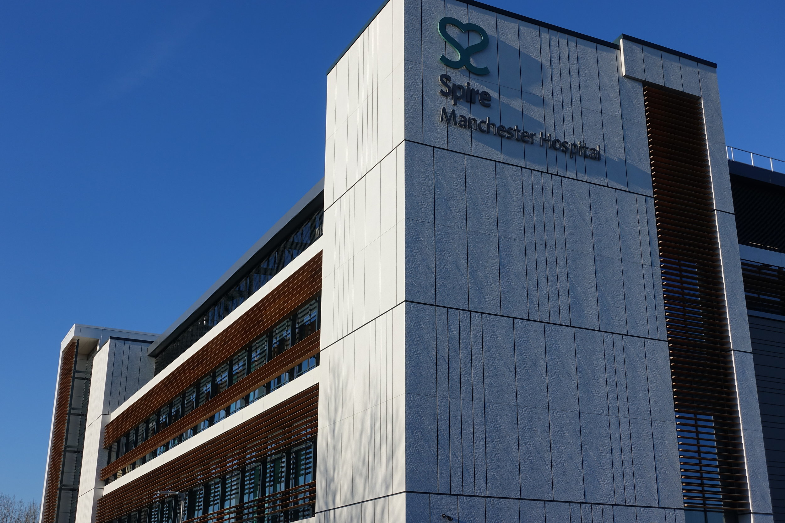 The new Spire Hospital Manchester in Didsbury as photographed by Mr Muir