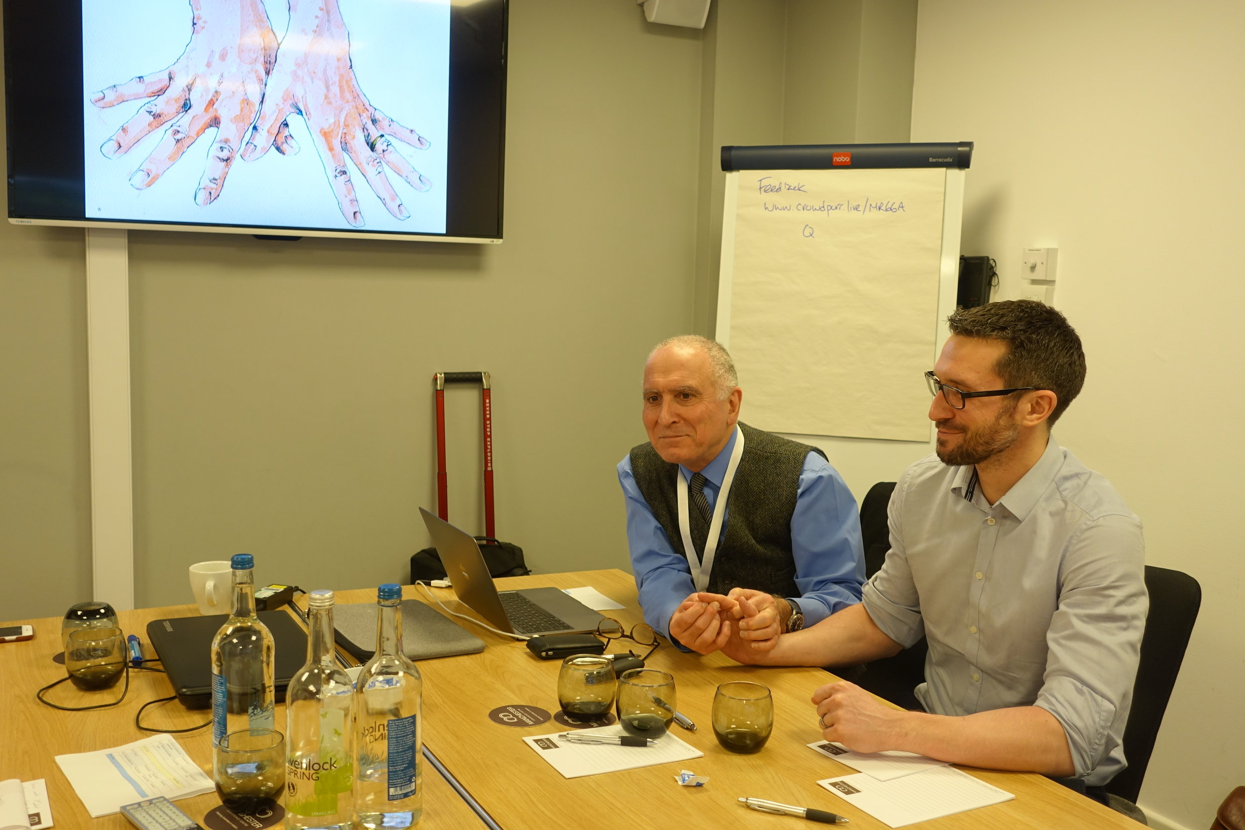 Mr Donald Sammut and his master class on the instrinsic muscles of the hands