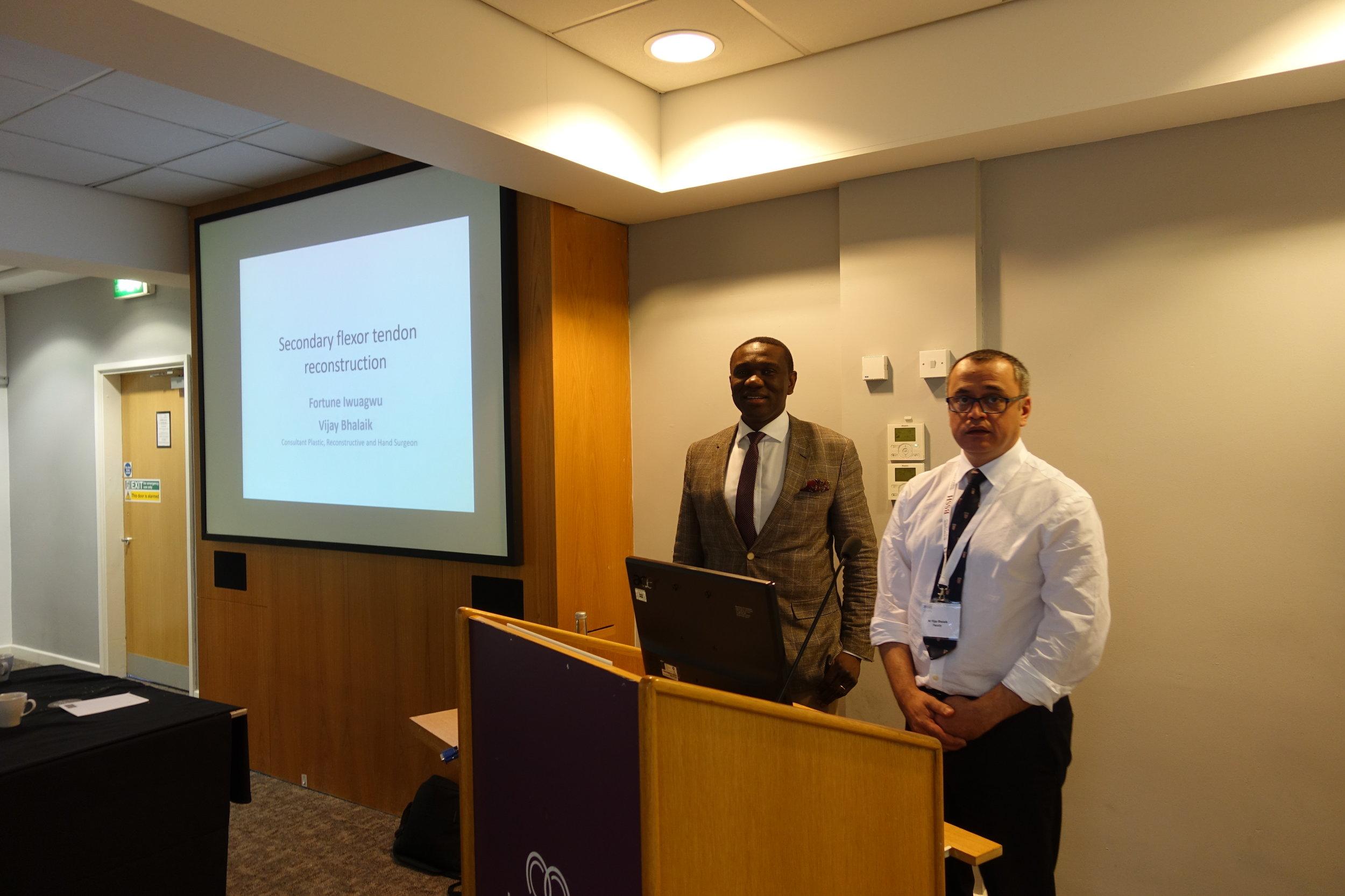 Mr Fortune Iwuagwu and Mr Vijay Bhalaik