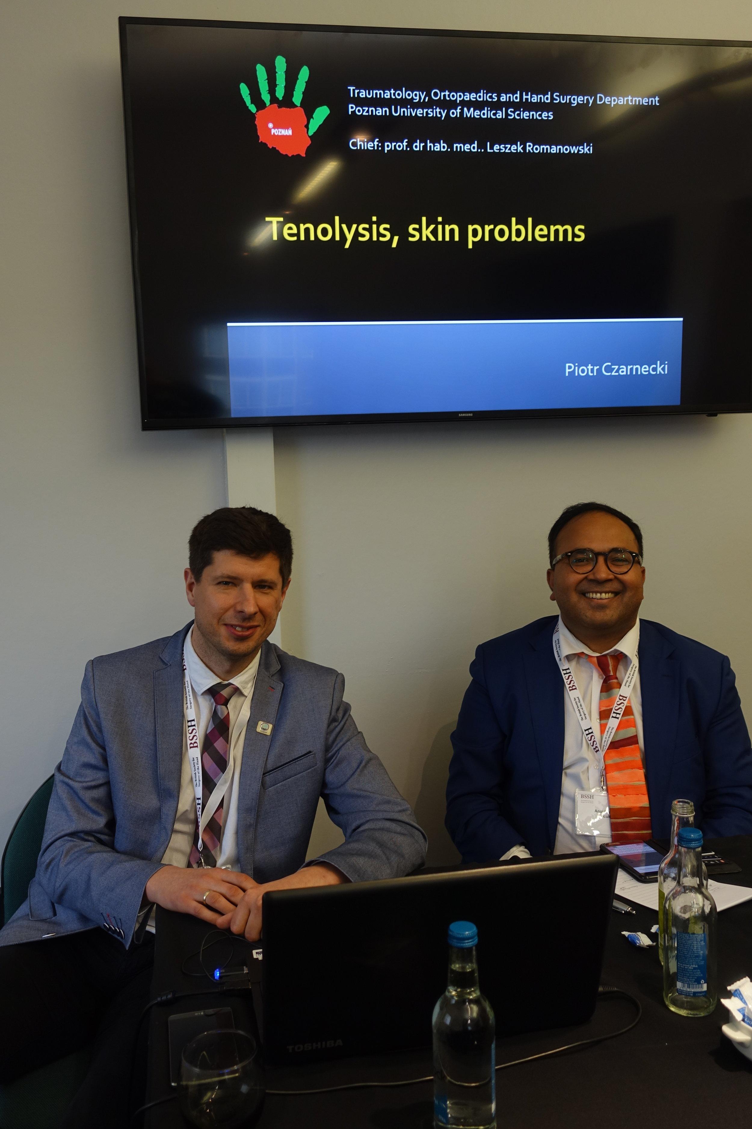 Dr Piotr Czarnecki (Poznan) and Mr Anuj Mishra (Manchester Hand Institute)