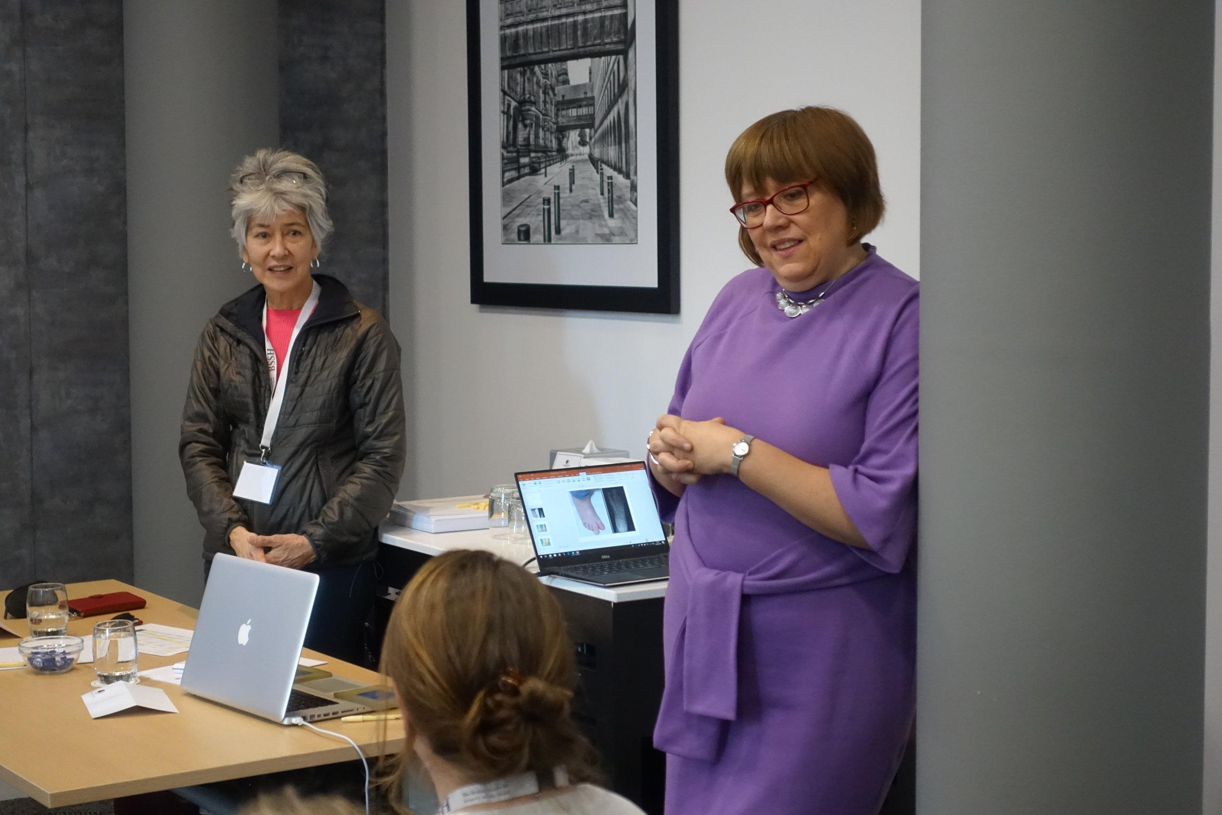 Dr Marybeth Ezaki and Miss Gill Smith