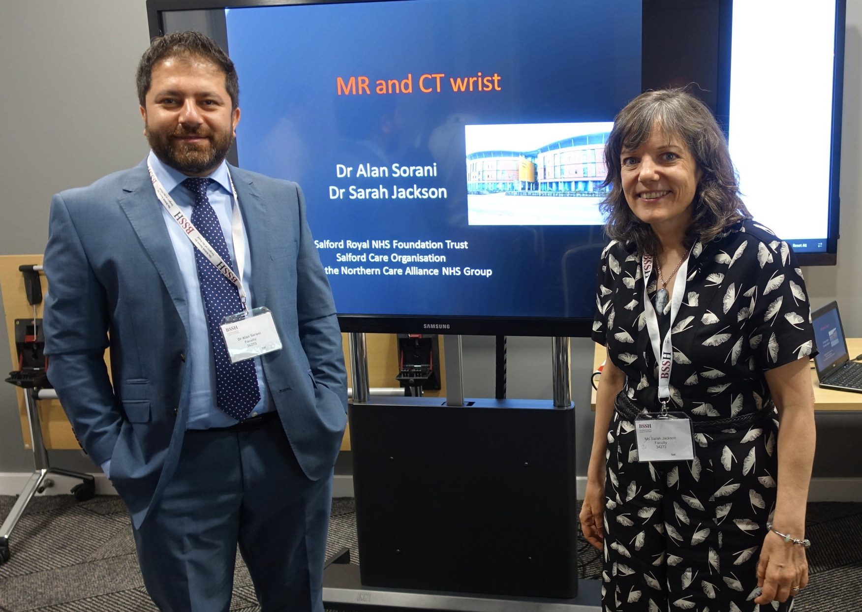 Dr Alan Sorani and Dr Sarah Jackson