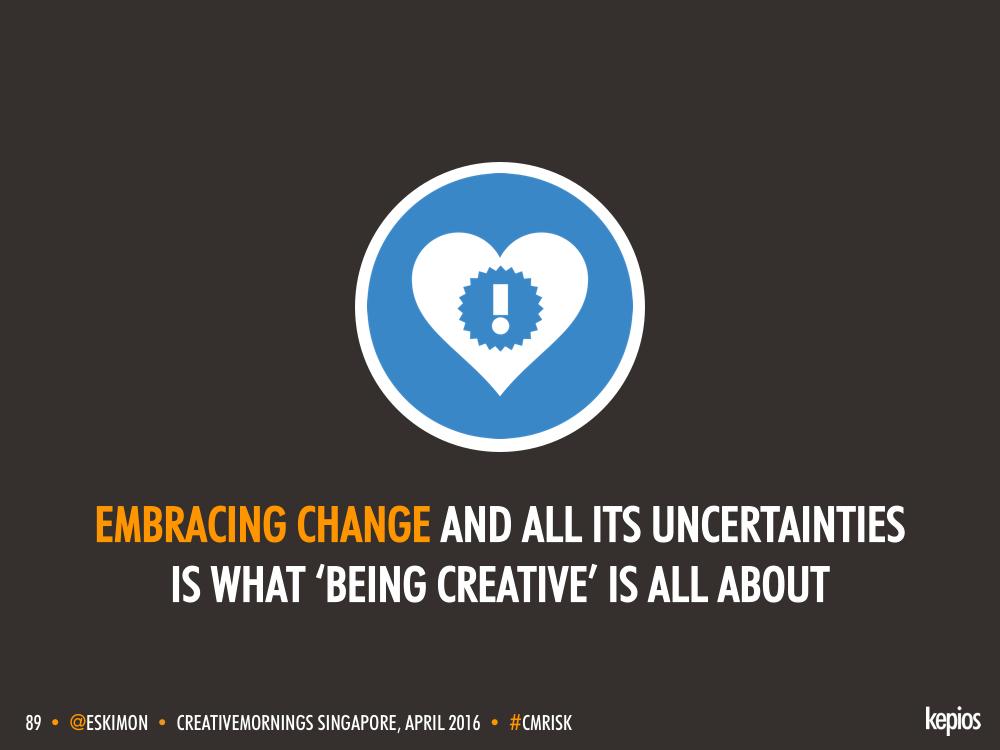 Creativity Is Change - Kepios @eskimon