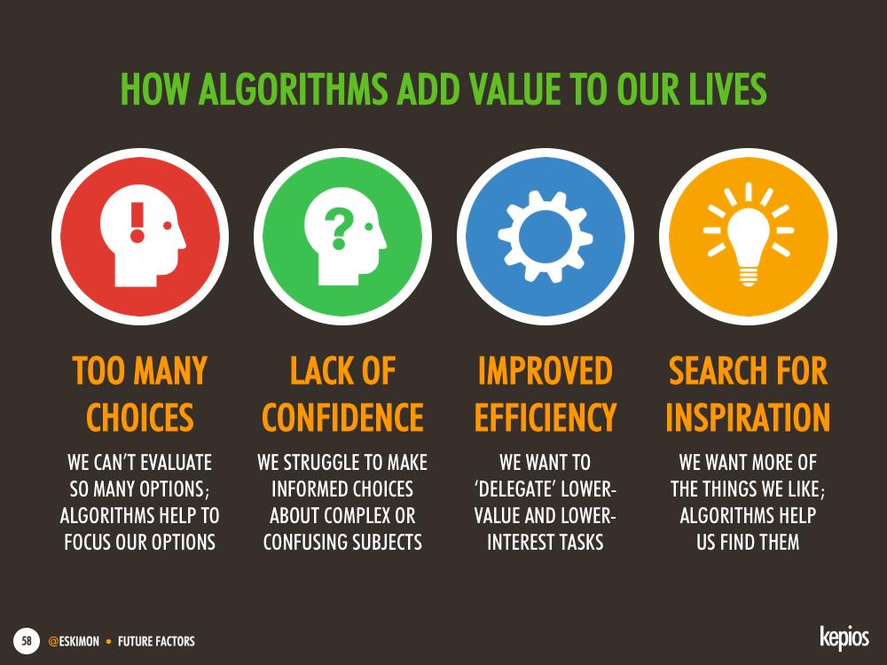 Why we're embracing algorithms - Kepios @eskimon