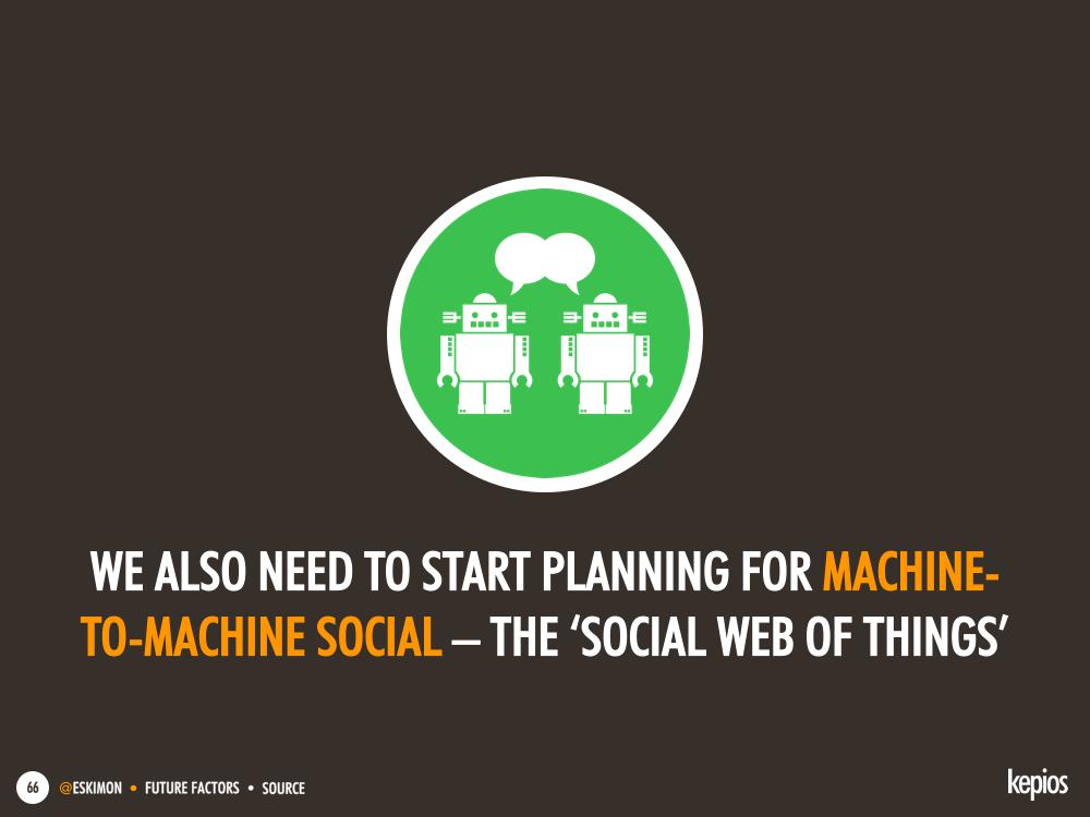 We need to start preparing for 'the social web of things' today - Kepios @eskimon