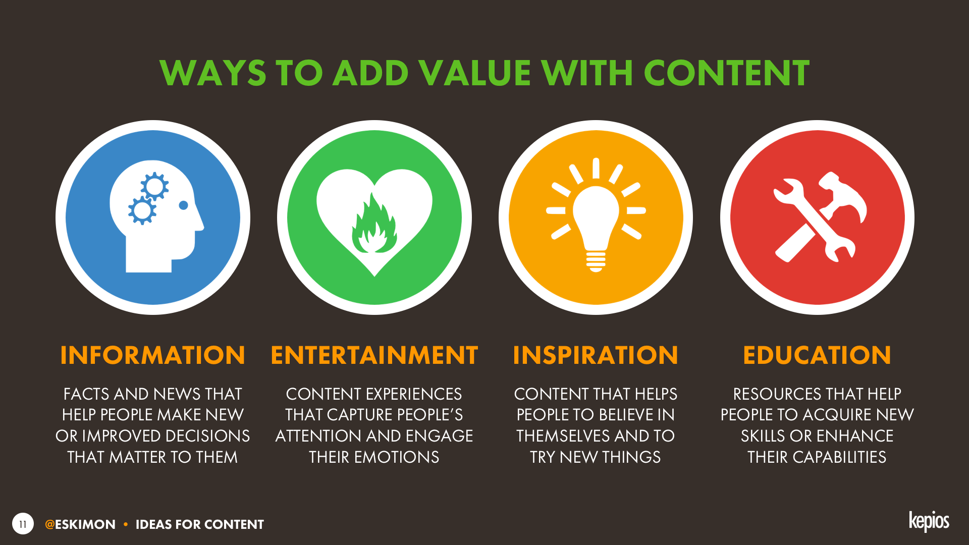 Ways to add audience value using content