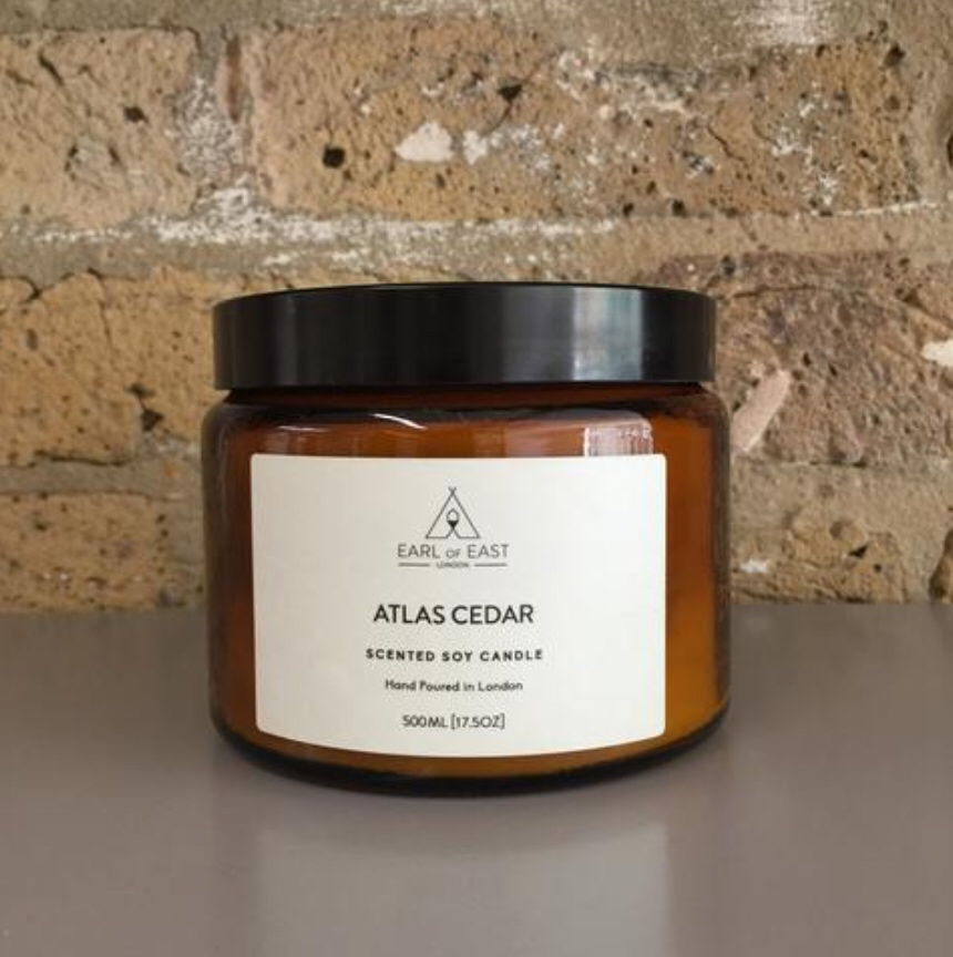 ATLAS CEDAR  Whilst you might envisage this to be spicy, its actually quite the opposite. A bespoke blend of cedarwood, olive leaf and white musk this is an earthy scent that reminds us of the Atlas mountains.                                      500ml [17.5 oz]  $70