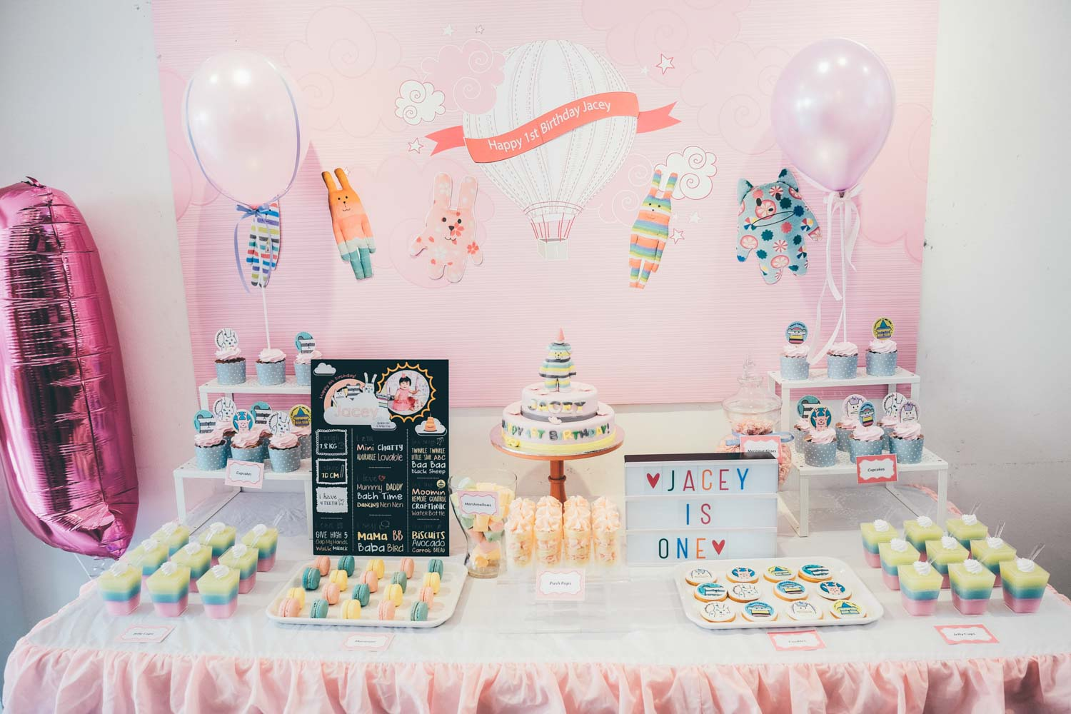 Birthday party dessert table for Jacey, craftholic themed!