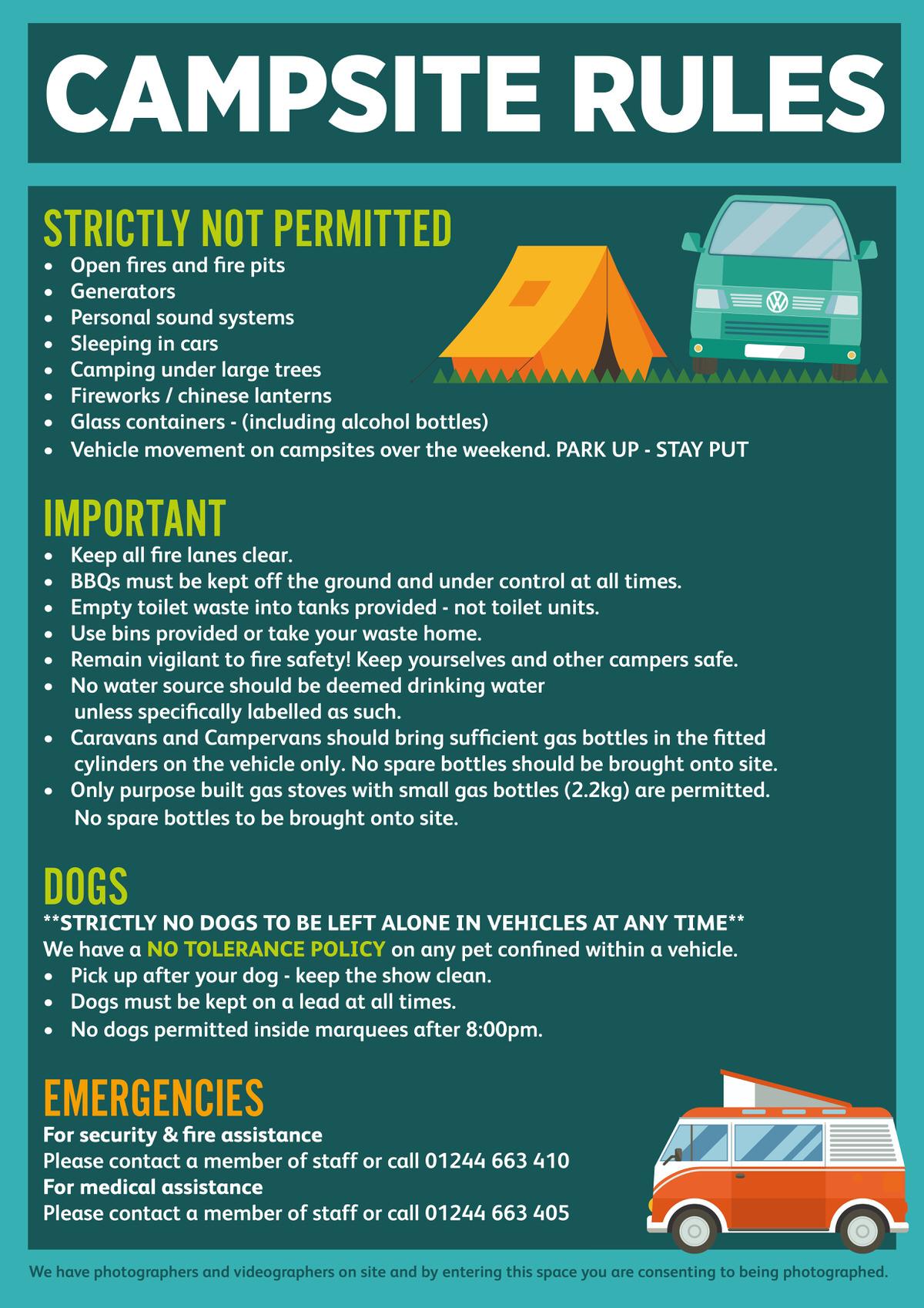 Important Information — Camper Calling
