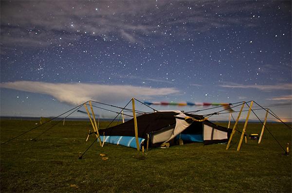 Patrick D. Wilson,  Night Tent #2 , mixed media2015