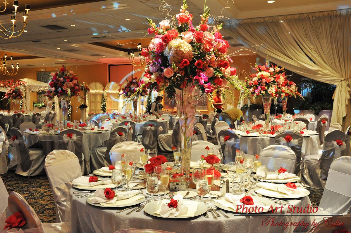 Wedding Reception Flower Centerpieces