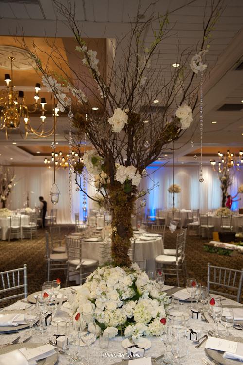 wedding winter centerpiece