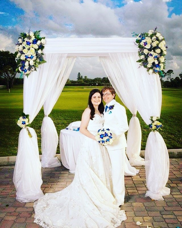 Palm Beach County gay lesbian wedding Florist