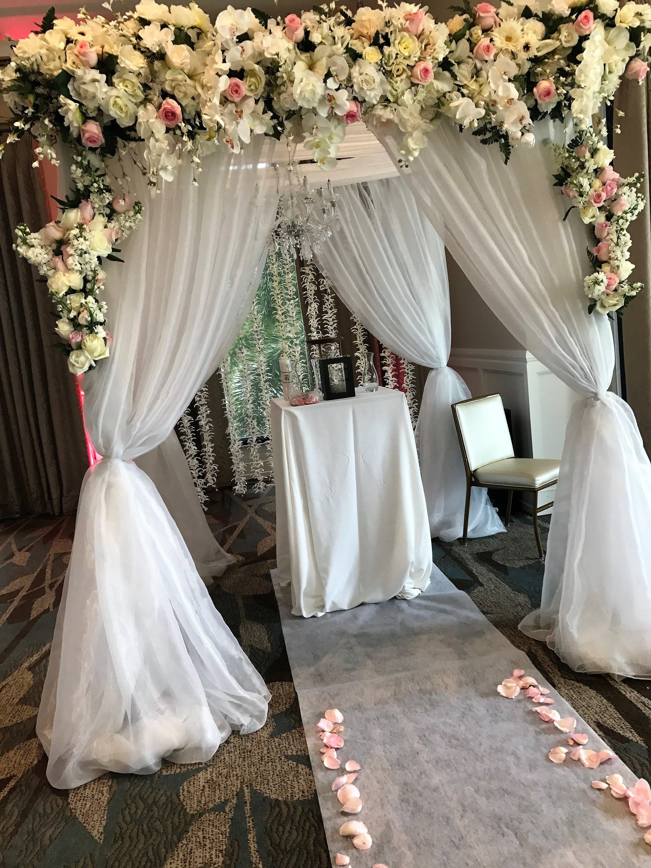 Palm beach county florist wedding arch design