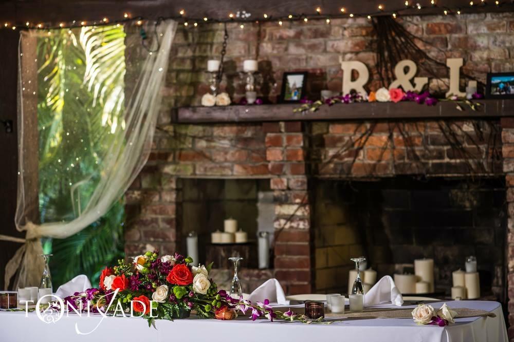 Palm beach county florist rustic wedding