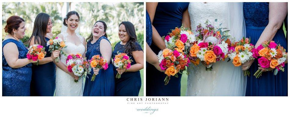 Palm beach county florist bridal party bouquet