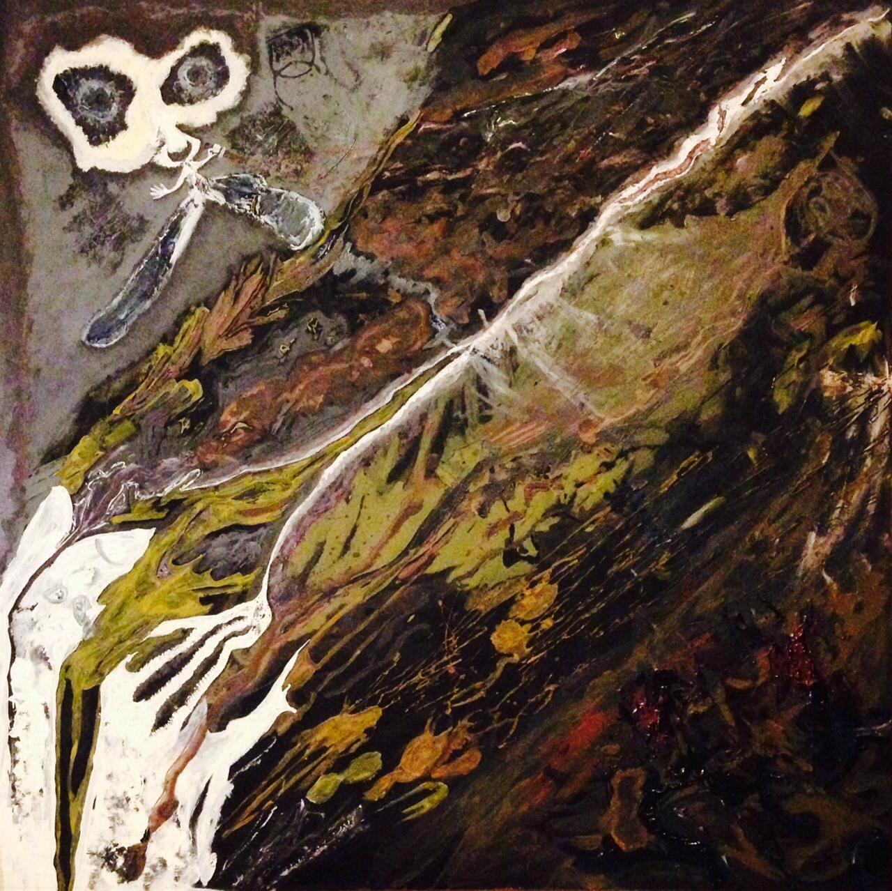 """Twisted Demise"" 24x24 acrylic (2014) Robert Johnson"