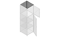"""Roof panels are made of framed 2"""" x 2"""" x 6&8GA wire mesh with 1 1/4"""" x 1 1/4"""" x12GA transom angle."""