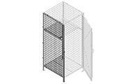 """Side panels are made of framed 2"""" x 2"""" x 10 GA, 2"""" x 1"""" x 10 GA or 1"""" x 1"""" x 10 GA welded wire mesh with 1 ¼"""" x 1 ¼"""" x12GA structural angle."""