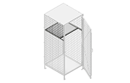 """Top shelves are made of 2"""" x 2"""" x 10 GA welded wire mesh or 16GA sheet metal framed in 1 ¼"""" x 1 ¼"""" x12GA structural angle."""