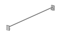 Coat rods comes with one hook on each side, a total of two hooks.