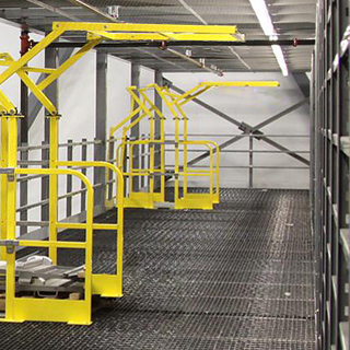Gates   Safety, efficiency and flexibility. Our mezzanine gates are easily adaptable to keep your process running smoothly.