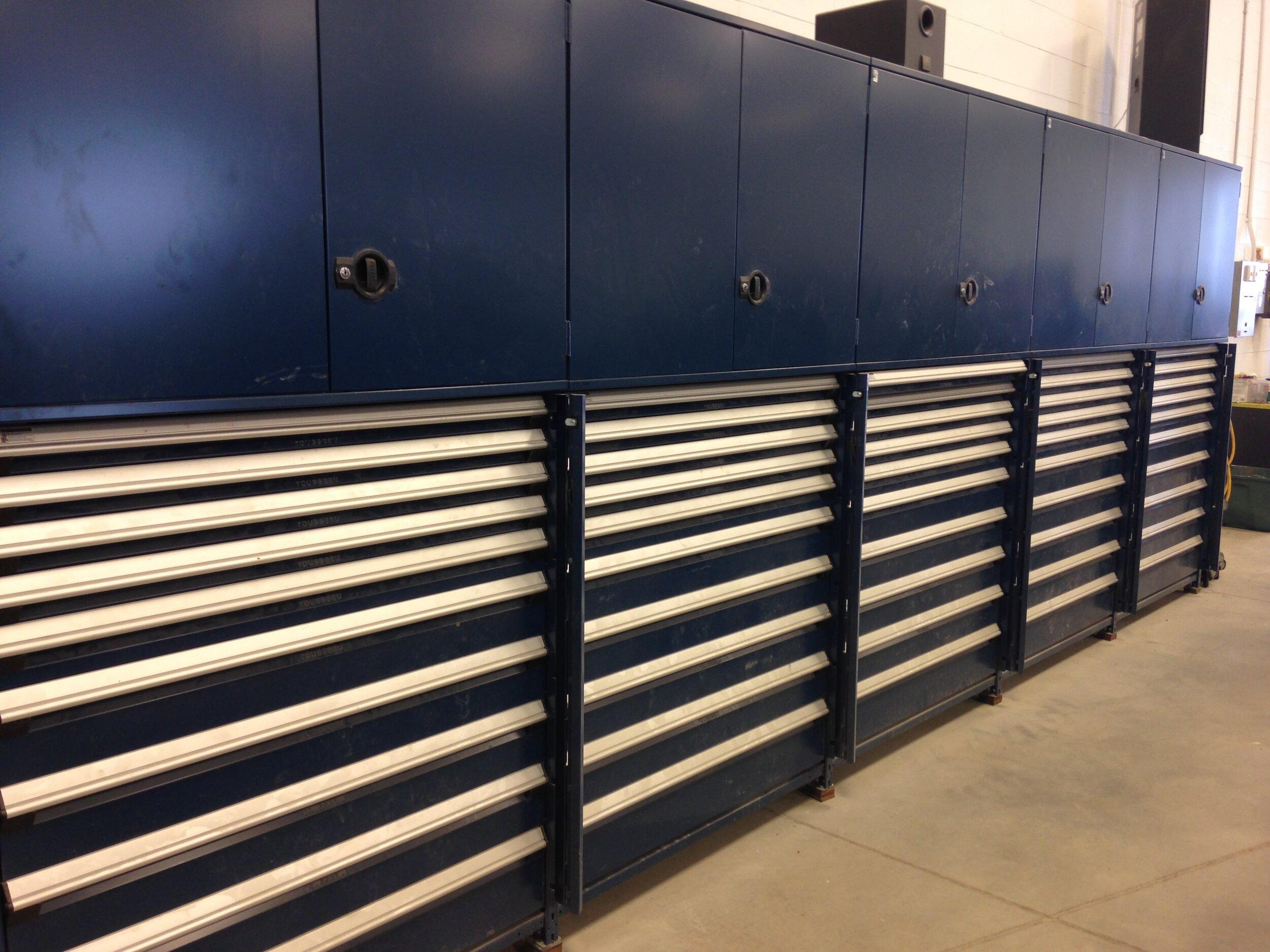 drawers in shelving body shop celebration ford moosomin rousseau waymarc steve atkinson.jpg