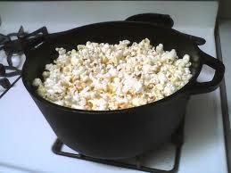 Cast iron sea salt popcorn!